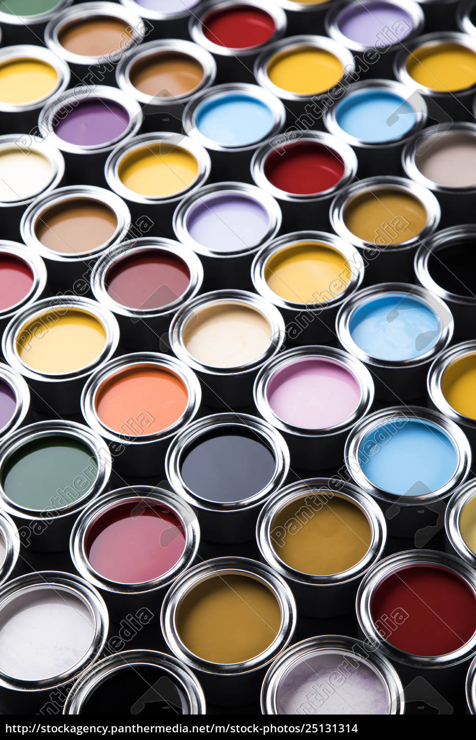 collection, of, colored, paints, cans - 25131314