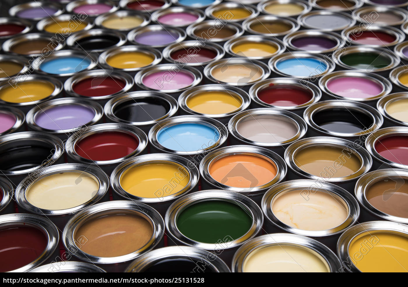 collection, of, colored, paints, cans - 25131528