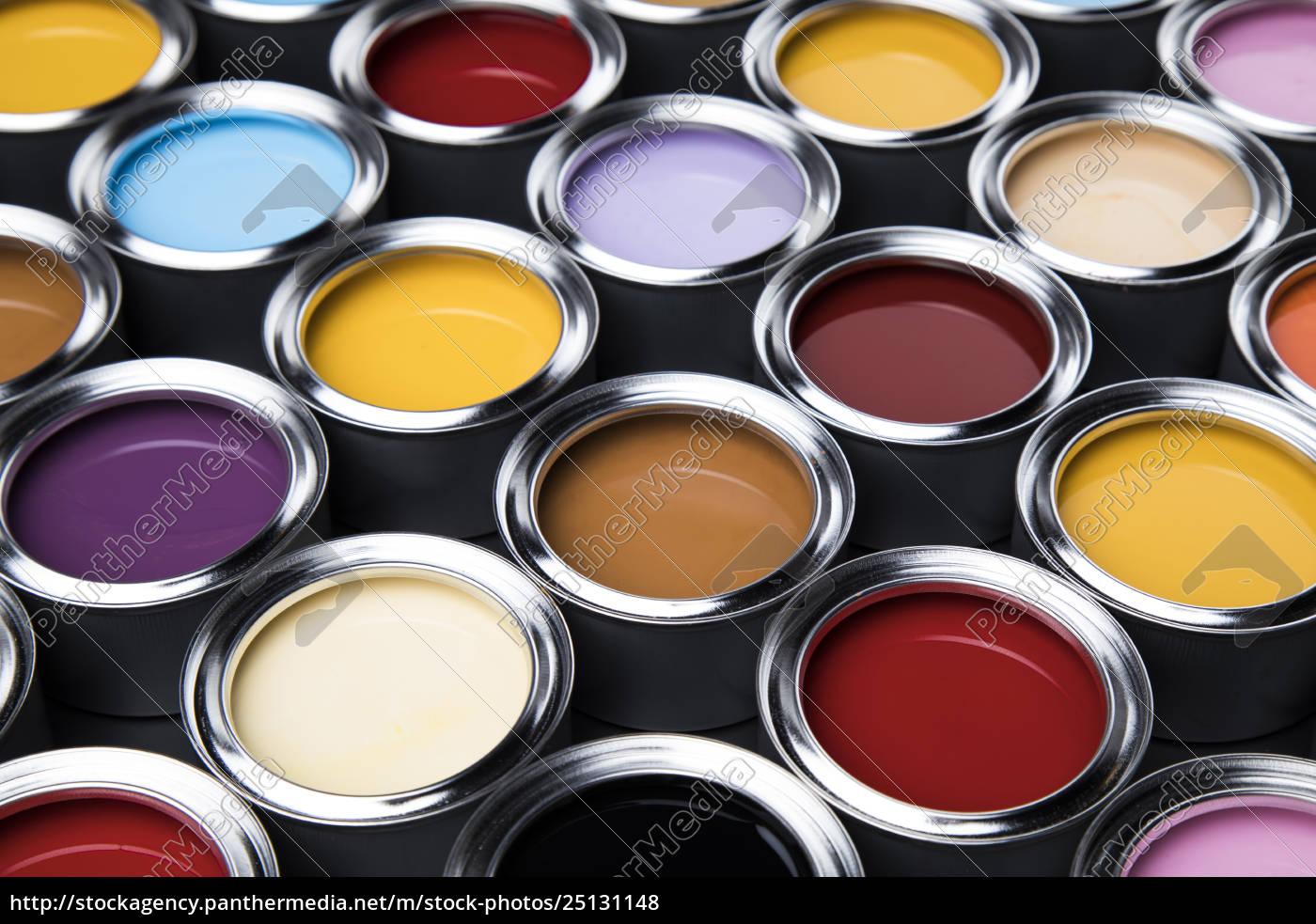 colorful, paint, cans, set - 25131148
