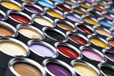colorful, paint, cans, set - 25131174