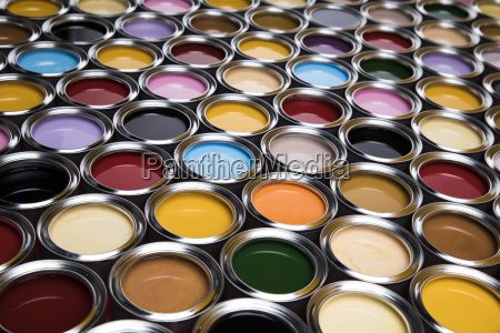 colorful, paint, cans, set - 25131766
