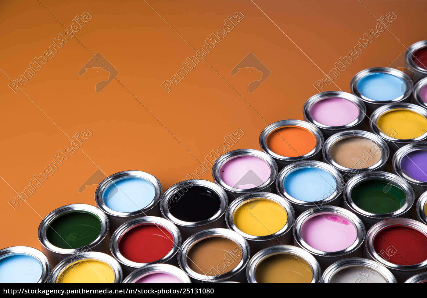 full, buckets, of, rainbow, colored, oil - 25131080
