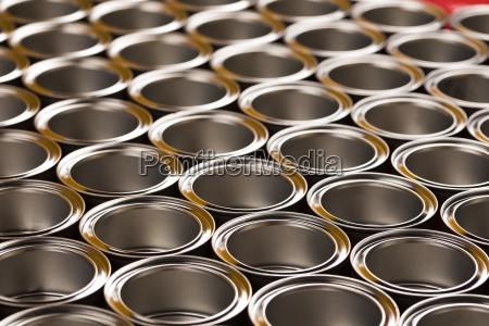 metal, tin, paint, cans - 25131084