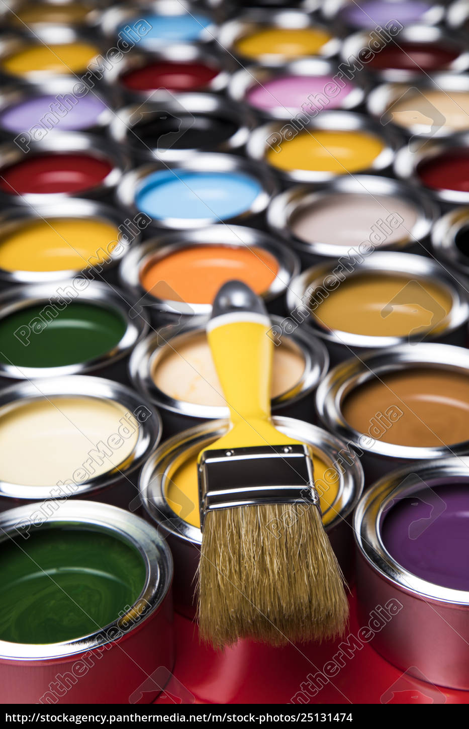 paint, brush, , tin, can, and, color - 25131474