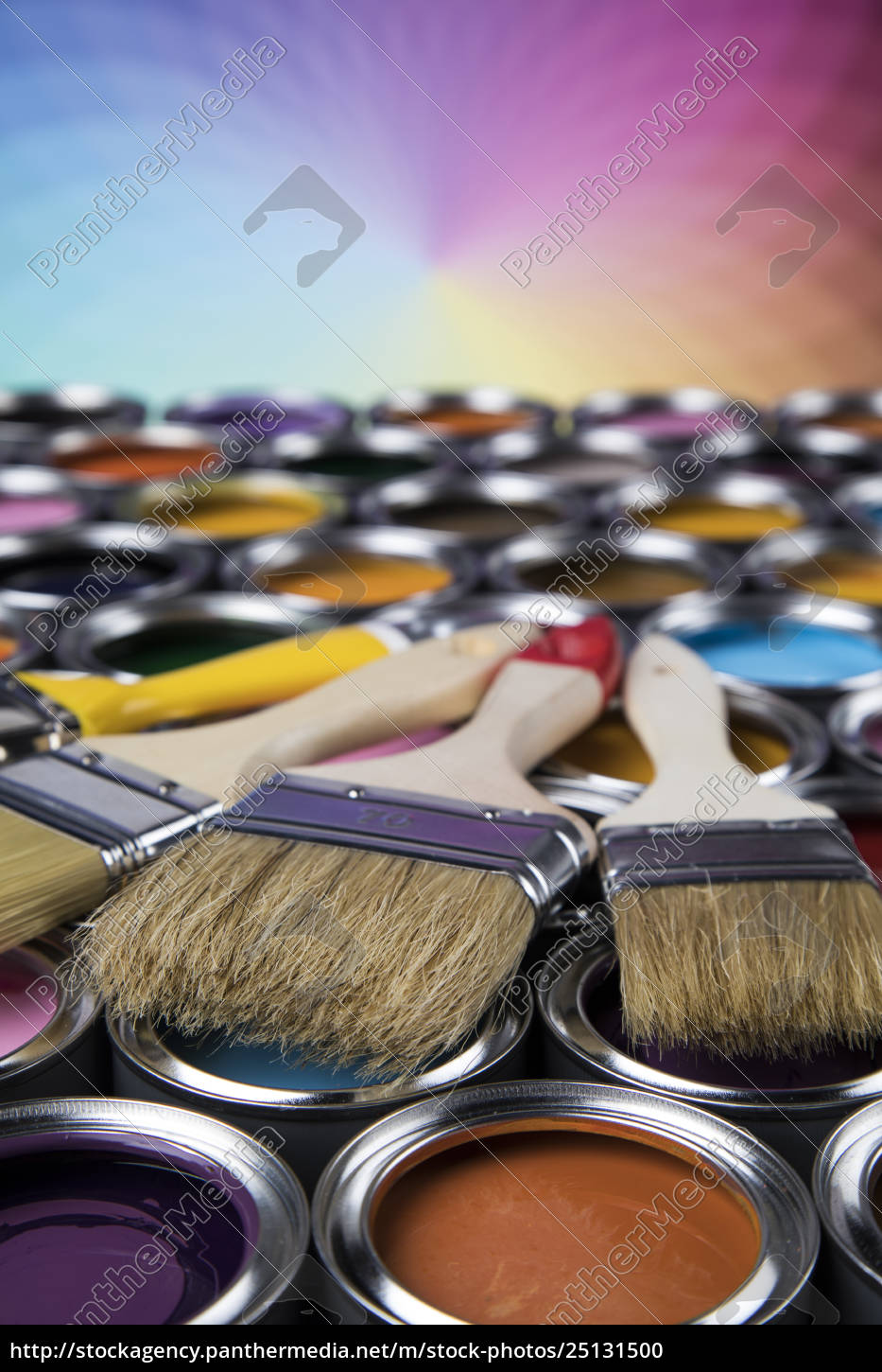 paintbrush, on, cans, with, color - 25131500