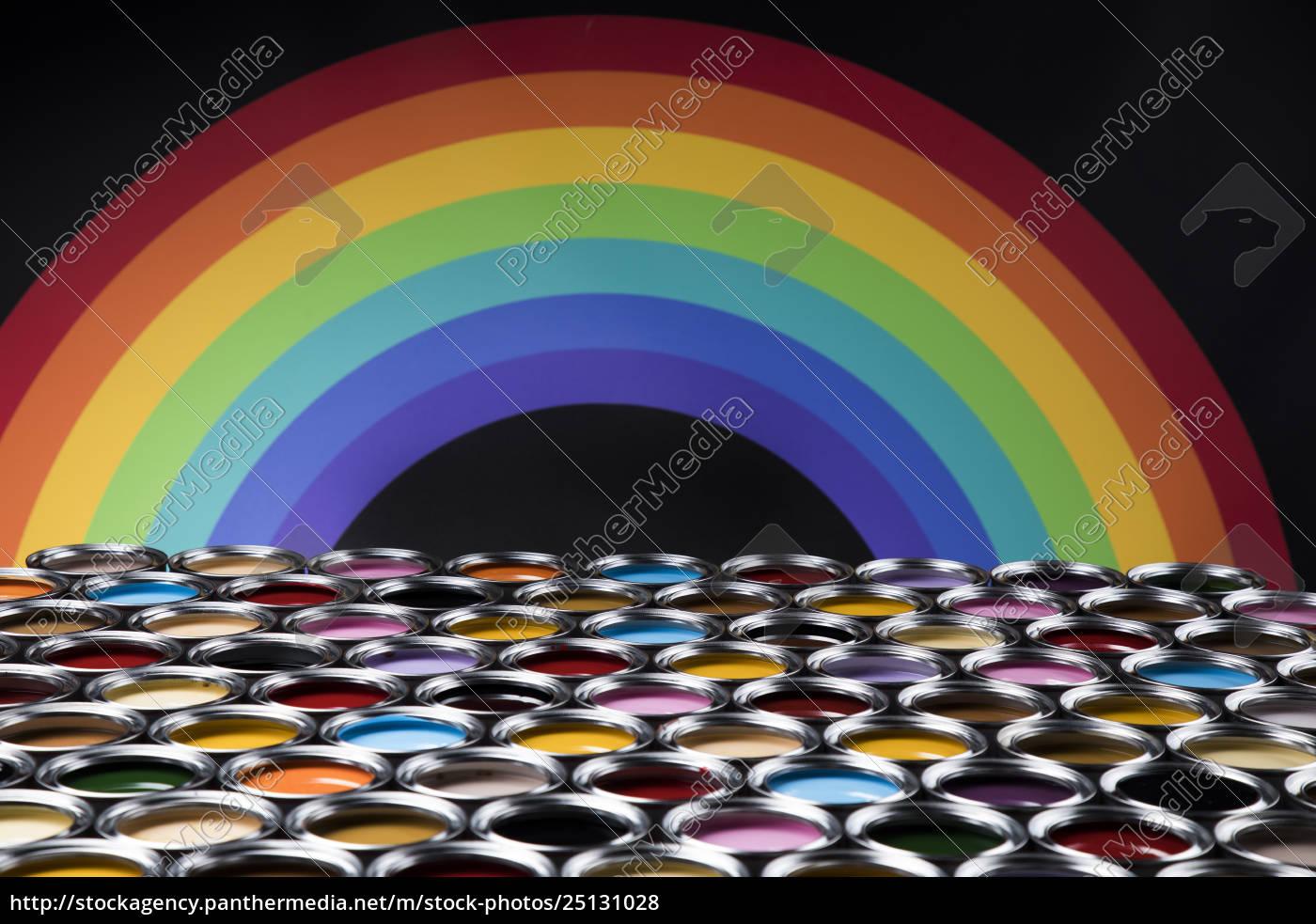 rainbow, colors, , group, of, tin, metal - 25131028