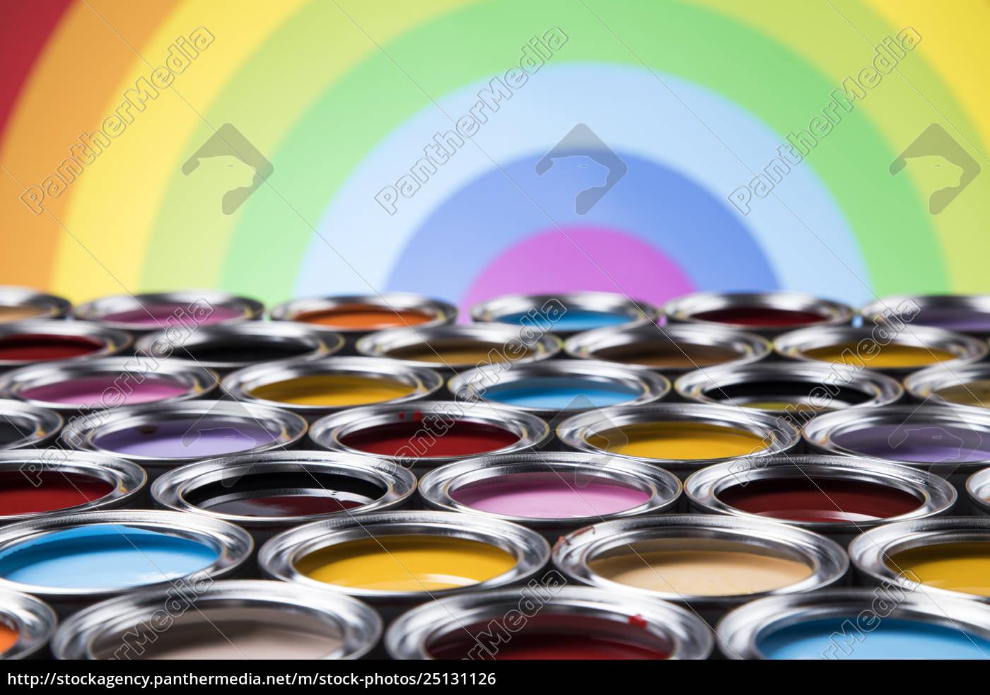 rainbow, colors, , group, of, tin, metal - 25131126