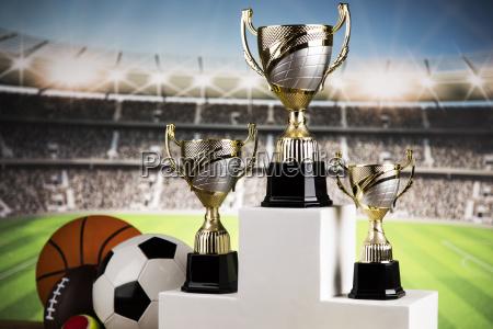 sport, podium, , cups, of, winners, award - 25131746