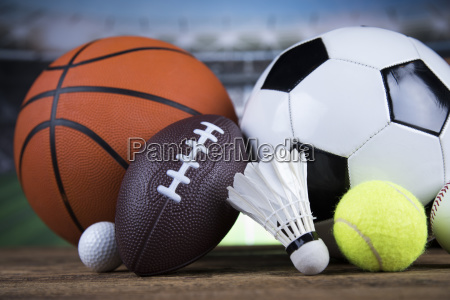 sports, balls, with, equipment - 25131016