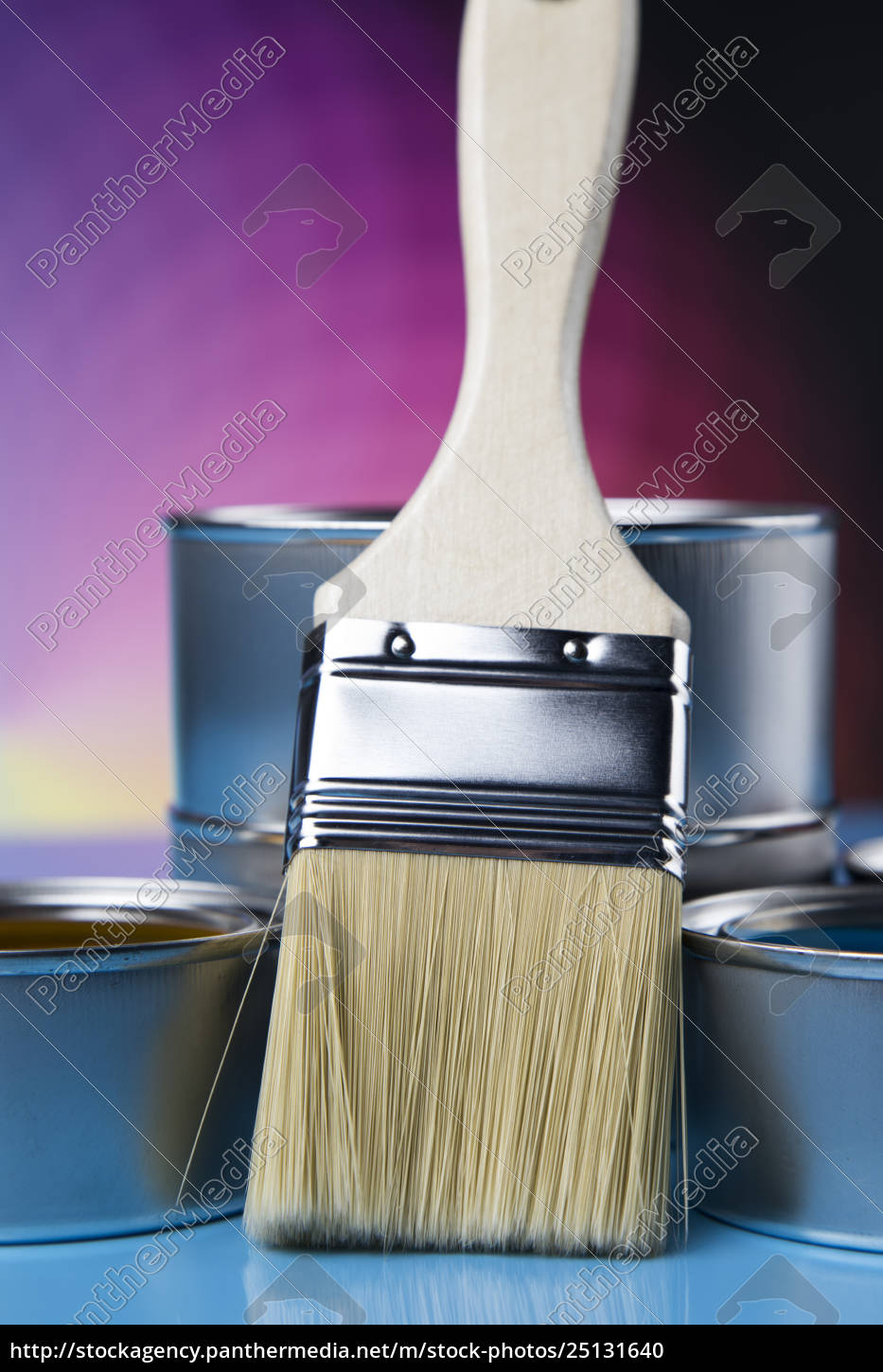 tin, metal, cans, with, color, paint - 25131640