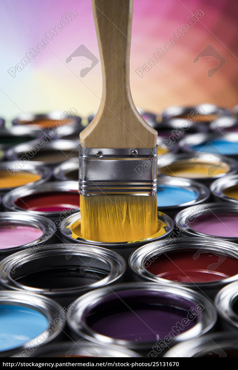 tin, metal, cans, with, color, paint - 25131670