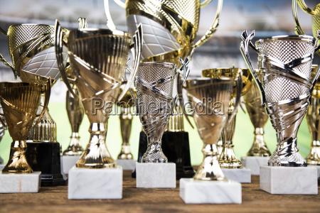 award winning trophy sport background