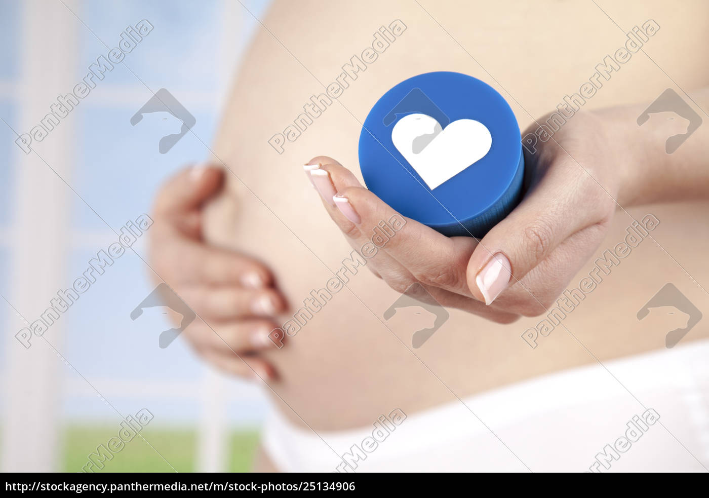 heart, , beautiful, pregnant, woman, belly - 25134906
