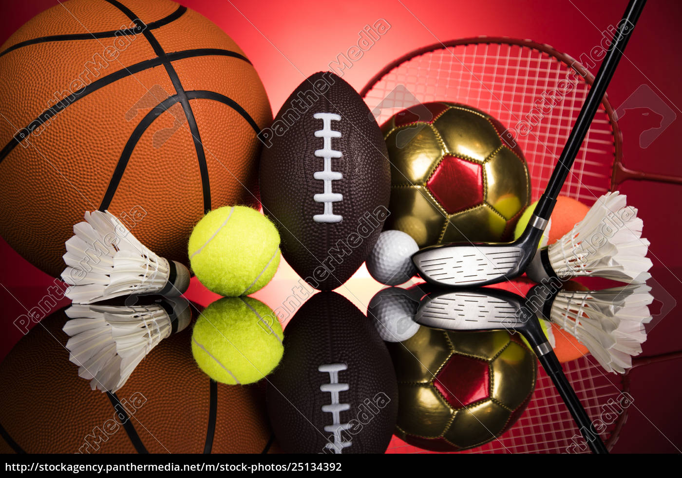 sports, balls, with, equipment - 25134392
