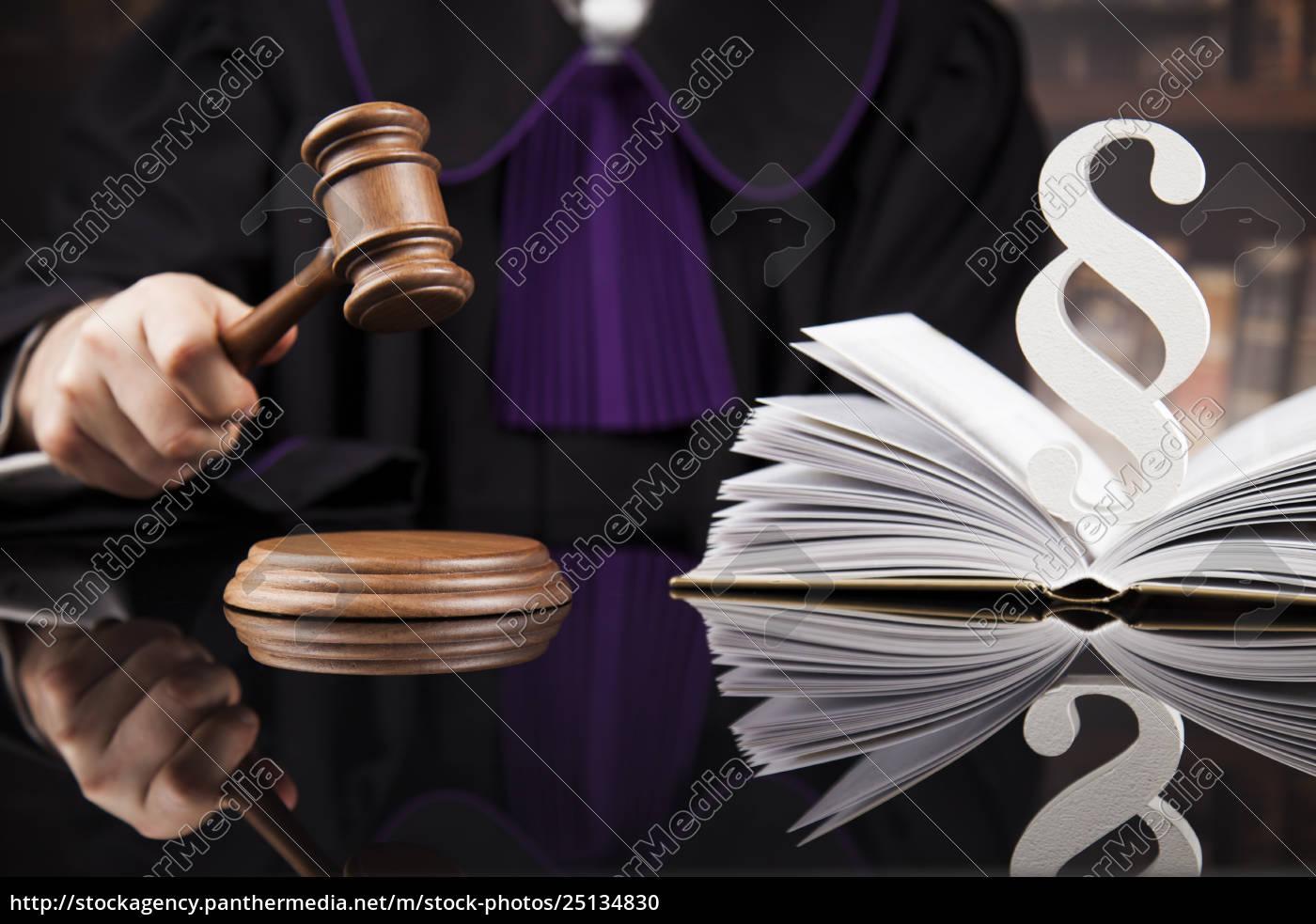 striking, mallet, , judgment, concept, , book, background - 25134830
