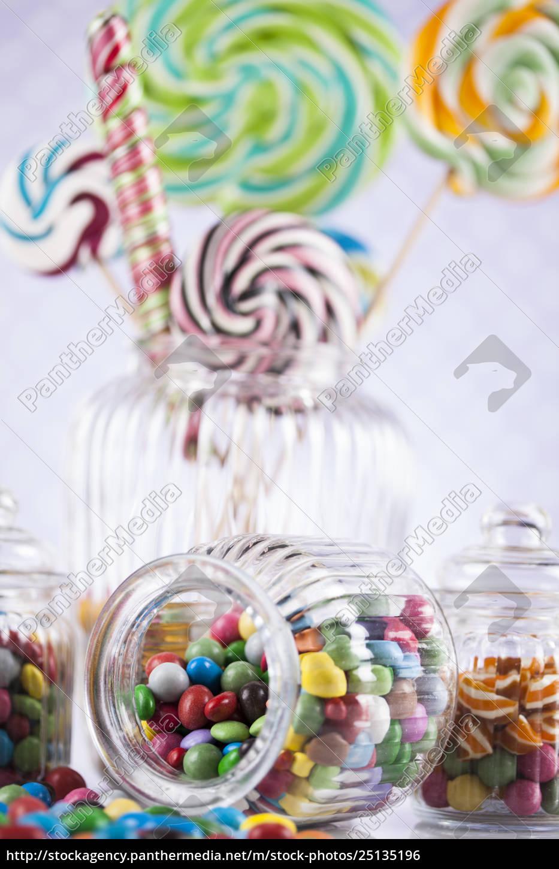 assorted, candies, including, lollipops, , gum, balls - 25135196
