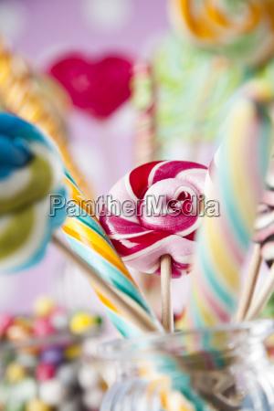 assorted, candies, including, lollipops, , gum, balls - 25135742