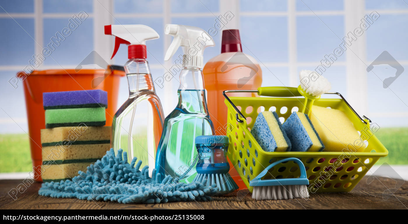 cleaning, products., home, concept, and, window - 25135008