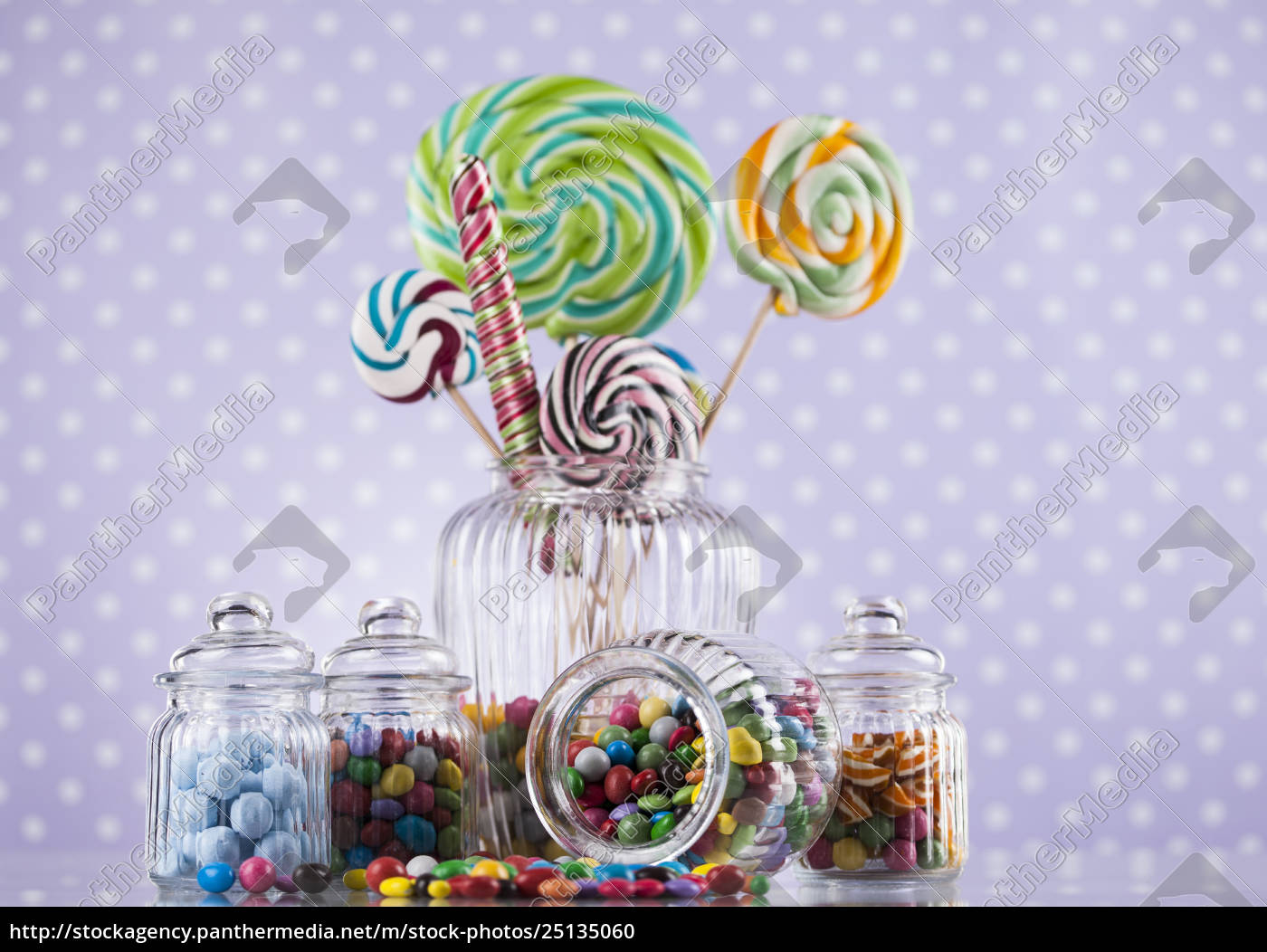 colorful, lollipops, and, different, colored, round - 25135060