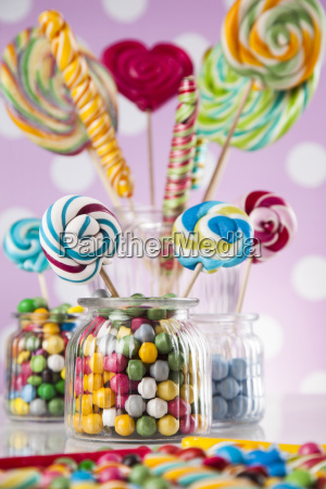 colorful, lollipops, and, different, colored, round - 25135100