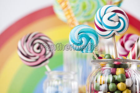 colorful, lollipops, and, different, colored, round - 25135392