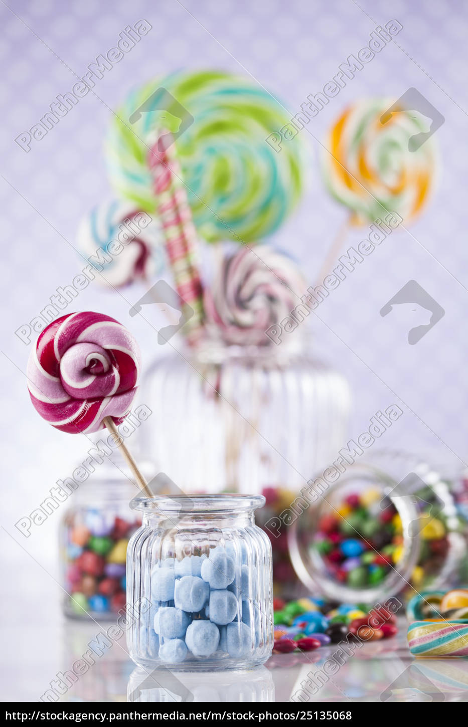 different, colorful, sweets, and, lollipops - 25135068