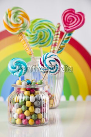 different, colorful, sweets, and, lollipops - 25135206
