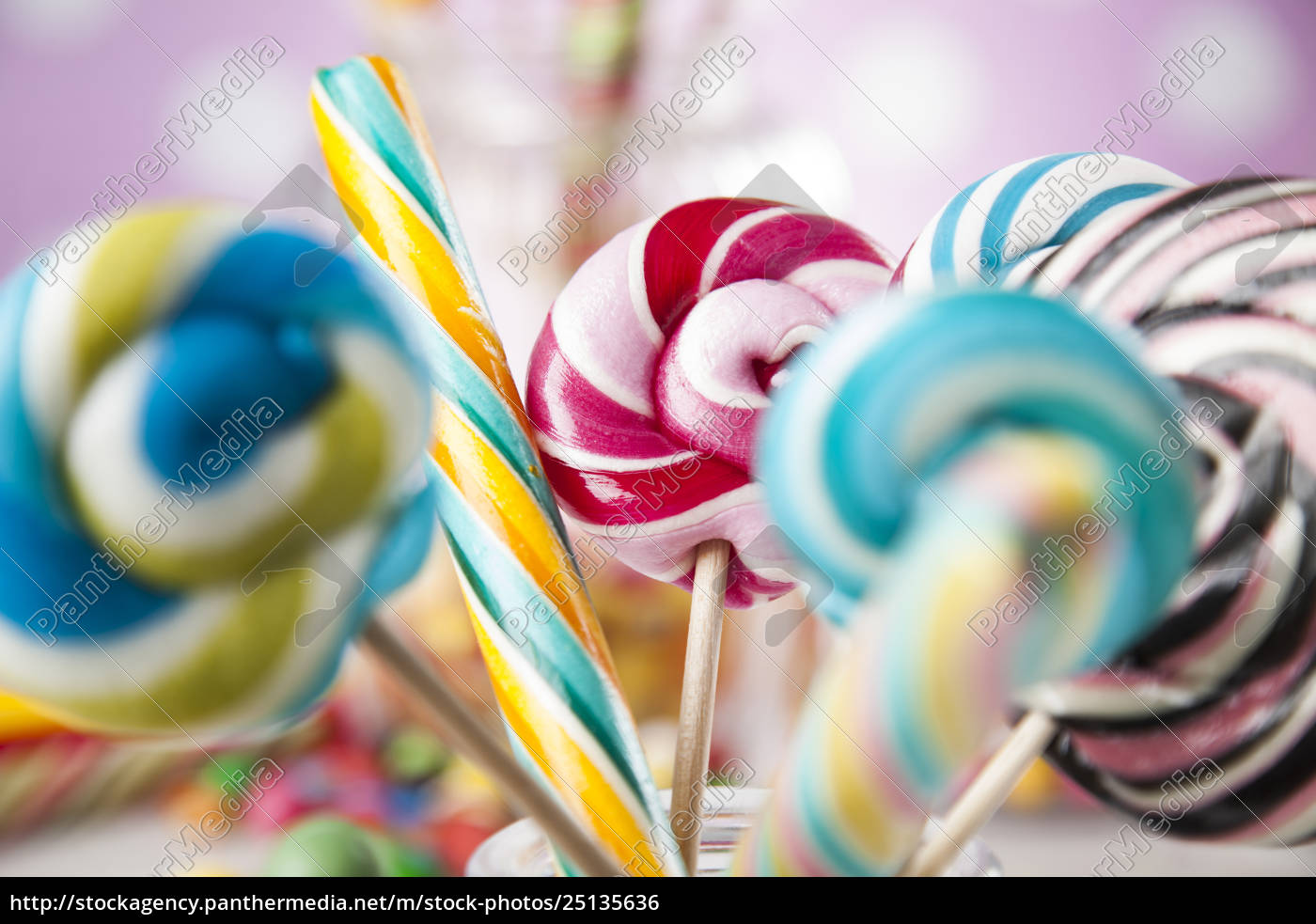 different, colorful, sweets, and, lollipops - 25135636