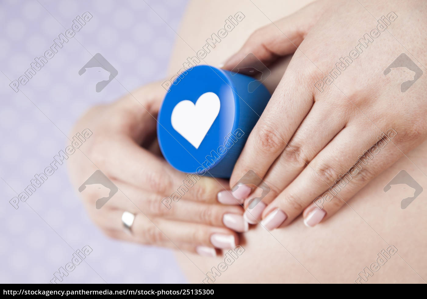 heart, , beautiful, pregnant, woman, belly - 25135300