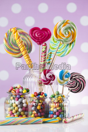 mixed, colorful, sweets, , lollipops, and, candy - 25135282