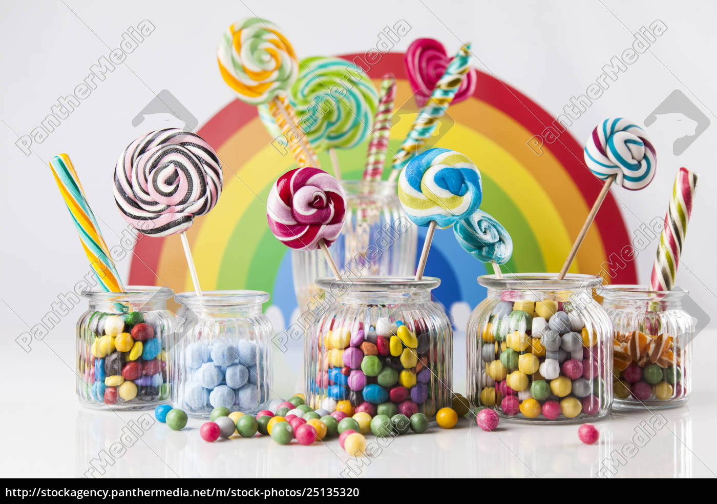 mixed, colorful, sweets, , lollipops, and, candy - 25135320
