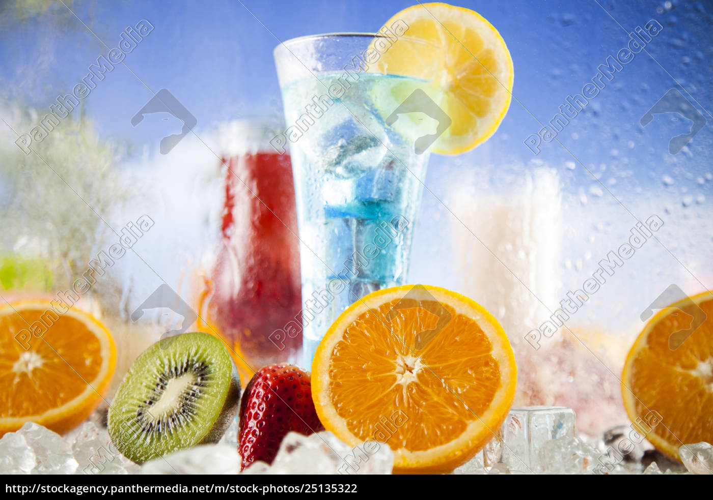summer, drink, , palm, branch, and, fresh - 25135322