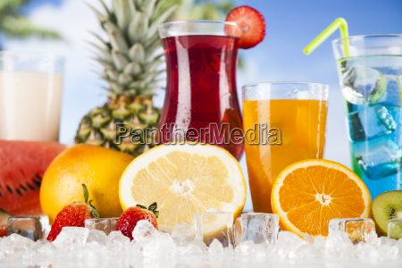 summer, drink, , palm, branch, and, fresh - 25135846