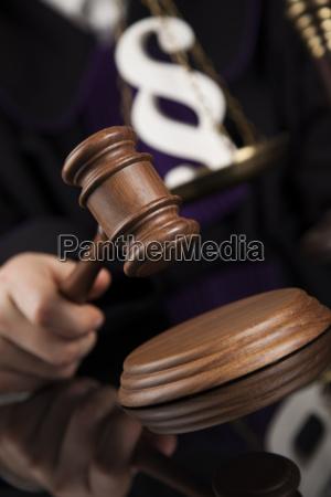 law concept male judge in a