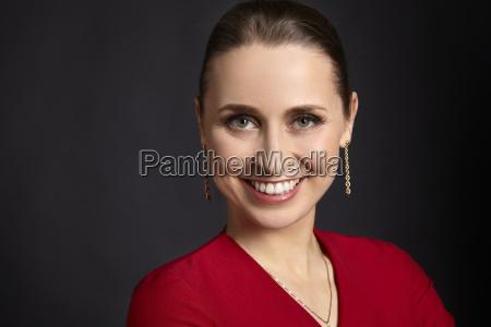 portrait of satisfied woman