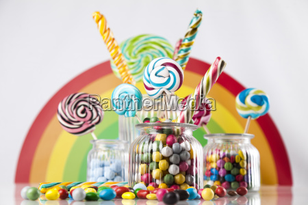 assorted, candies, including, lollipops, , gum, balls - 25136058
