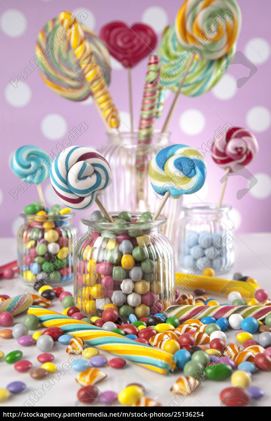 mixed, colorful, sweets, , lollipops, and, candy - 25136254