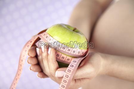 pregnant, woman, , apple - 25136160