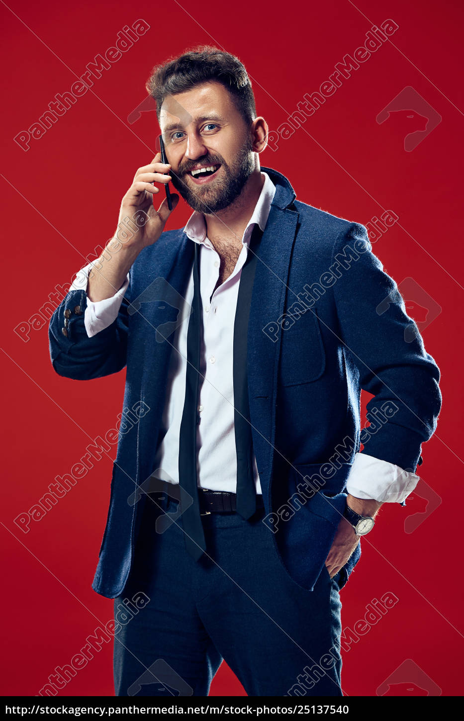 handsome, businessman, with, mobile, phone - 25137540