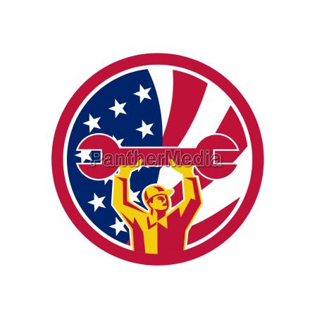 american, mechanic, usa, jack, flag, icon - 25139054