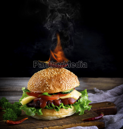 classic, burger, with, a, meatball, , cheese - 25145002