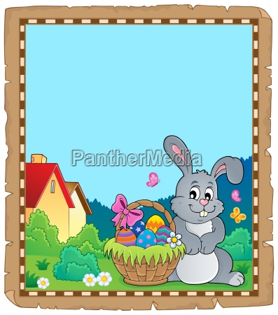 parchment with easter bunny topic 5