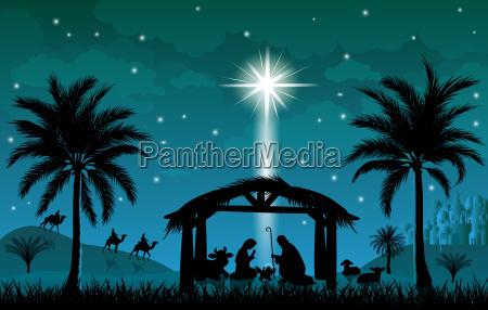 christmas the scene of christmas