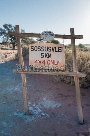 sign signal national park africa namibia