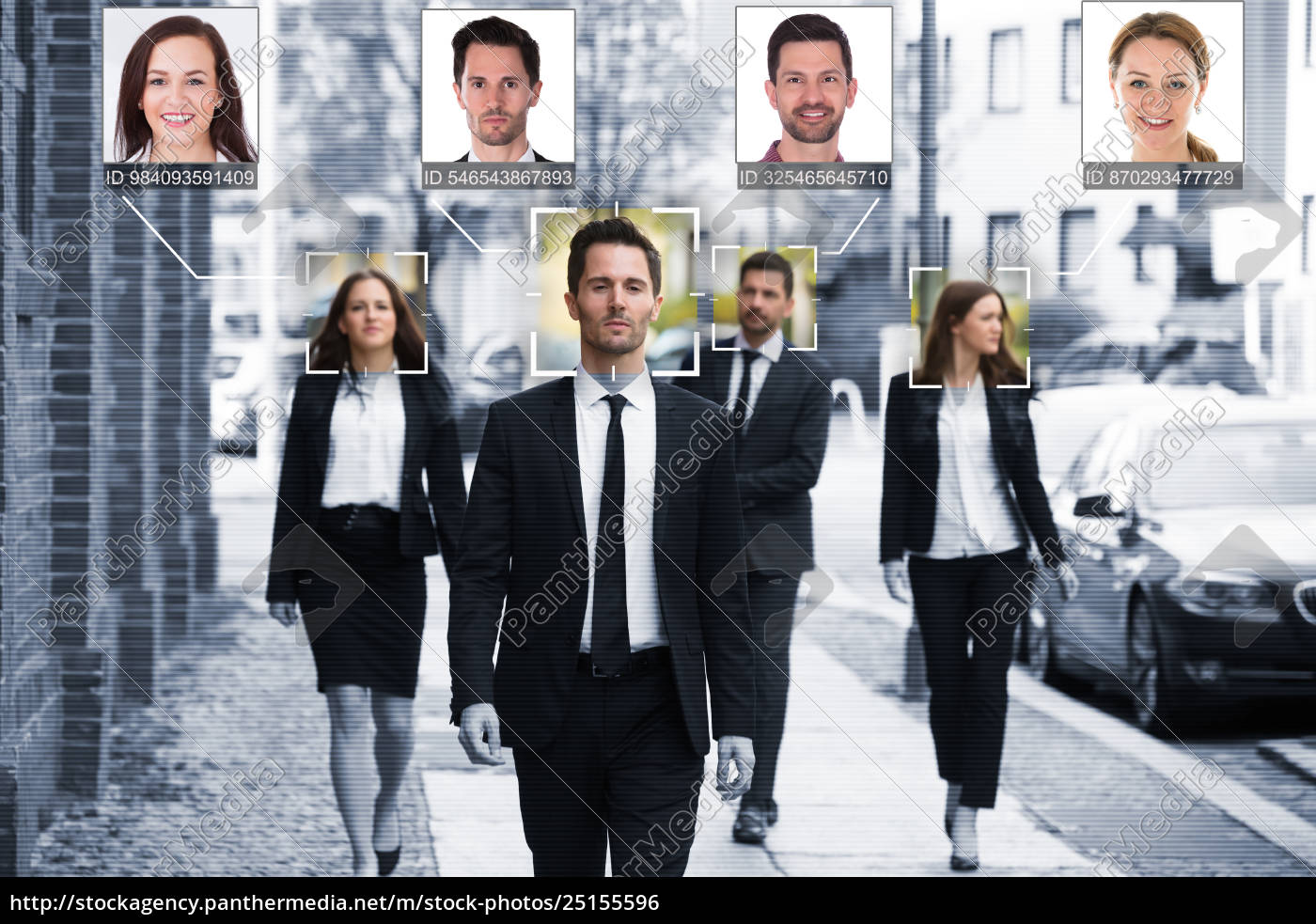 businesspeople, face, recognized, with, intellectual, learning - 25155596
