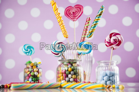colorful, lollipops, and, different, colored, round - 25160614