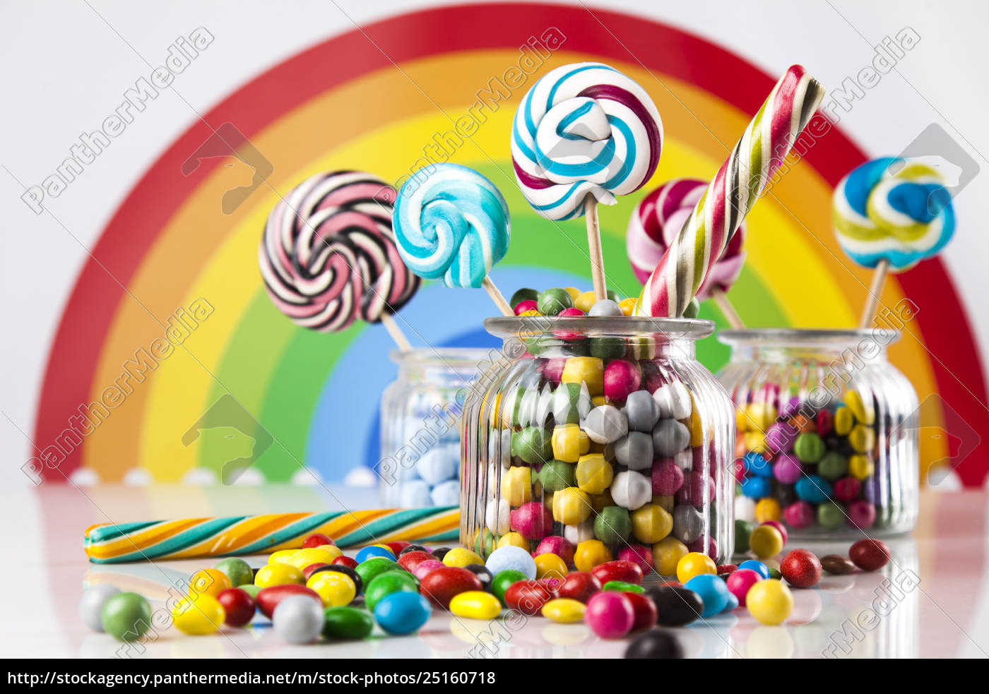 colorful, lollipops, and, different, colored, round - 25160718