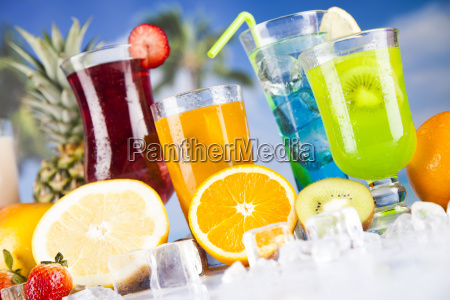 fresh, tropical, fruits, , summer, drink, and - 25160478