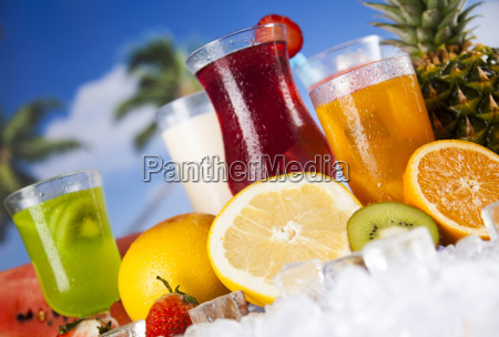 fresh, tropical, fruits, , summer, drink, and - 25160602