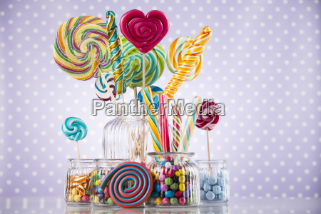 mixed, colorful, sweets, , lollipops, and, candy - 25160446